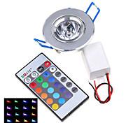 MORSEN 3 W 1 Geïntegreerde LED 200-250 LM RGB Verzonken ombouw Op afstand bedienbaar Plafondlampen / Paneellampen AC 85-265 V