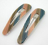 NEW Style Hot Sale Fashion Charming Loveliness Normal Size Strip Pattern Barrettes Hairpins For Girl