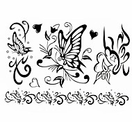 1pc New Design Women's Temporary Tattoos Arm/Wrist/Finger Tattoos Butterfly Heart Tattoos Jewelry Tattoos(17*16cm)