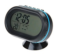 VST-7009V Multi-Functional Car Electronic Clock/Thermometer/Voltmeter with Night Lights(Assorted Color)