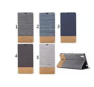 cubierta de la caja - Sony Xperia T3 - Cuero PU - Fundas  Completas/Fundas con Soporte - Diseño Especial -