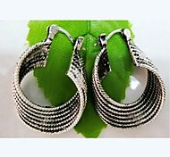 National Style Fashionable Lacing Earrings 1 Pair