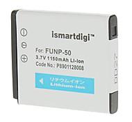 Ismartdigi-Fuj FNP-50 (1000mAh,3.7V)Camera Battery+EU Plug+Car Charger For Fuji NP-50 X10 F775 F750 F665 F600 F605 F550
