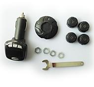 Car Tire Pressure Monitoring System Transmitter Sensor Wireless TPMS LCD Cigarette Lighter Pneumatic Type