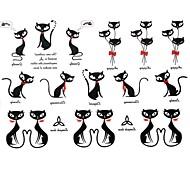 Séries Animal - Yimei - Tatuagem Adesiva - Waterproof - para Feminino/Girl/Masculino/Adulto/Boy/Adolescente - de Papel - Preta - 17cm*16cm 2