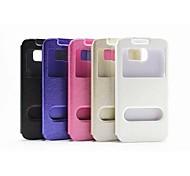 Teléfono Móvil Samsung - Fundas con Soporte - Color Sólido/Diseño Especial - para Samsung Samsung Galaxy S6 ( Negro/Blanco/Azul/Rosa/Dorado ,