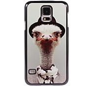 étui rigide autruche conception en aluminium pour les i9600 Samsung Galaxy S