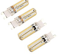 6W G9 Bombillas LED de Mazorca T 104 SMD 3014 450 lm Blanco Cálido Regulable / Decorativa V 4 piezas