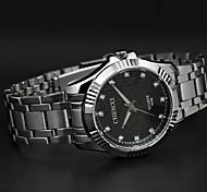 cintura in acciaio chenxi classici uomini d'affari orologio al quarzo