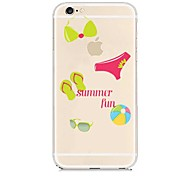 Summer Fun Pattern Transparent Back Case for iPhone 6