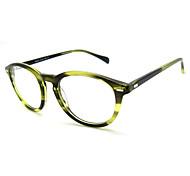 [Free Lenses] Women's Acetate Round Full-Rim Retro Prescription Eyeglasses