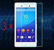 [3-pack] professionnelle grande transparence cristal lcd protecteur d'écran avec un chiffon de nettoyage pour sony xperia m4 Aqua