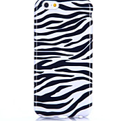 Zebra Stripes Pattern Soft TPU Back Cover for iPhone 6/6S Case 5.5 inch
