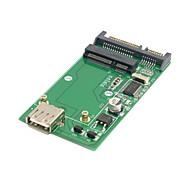 combinação SSD mSATA disco de estado sólido para 22pin sata&usb 2.0 disco rígido caso recinto pcba