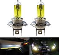 2pcs H4 100/90W High Low Beam 3000K Golden Yellow Halogen Headlamp Headlight Bulb