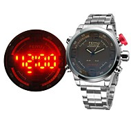 Men's Japanese Movement Quartz Militray Watch Analog-Digital LED Display Alarm/Month/Second/Date/Week Sport Watch
