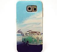schattig giraffe en auto patroon TPU soft Cover Case voor Samsung Galaxy s6