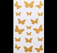 1PC Gold Tattoos Lovely Butterfly Temporary Tattoos Flash Tattoos Metallic Tattoos Wedding Party Tattoos(20.5*10cm)