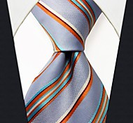Q26 Shlax&Wing Men's Acceossories Silk Neckties Tie Stripes Light Blue