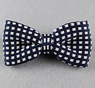 Gravata Borboleta (de Roupa de Malha , Branco/Azul/Vermelho) - Vintage/Pesta/Trabalho/Casual