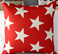 Modern Style Stars Patterned Cotton/Linen Decorative Pillow Cover