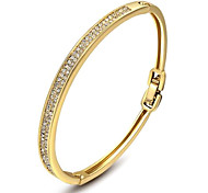 Gorgeous Fashion Jewelry Gold plated with  Rhinestone  Bracelet  (one piece)