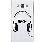 Fashion Painted Headphone PC Hard Case for Samsung Galaxy A3