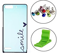 Smile Heart Pattern PC Hard Case with Anti-dust Plug and Stand for Huawei G6