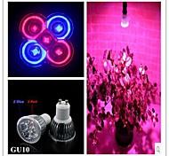 Luces LED para Crecimiento Vegetal MR16 GU10 5W 3 LED de Alta Potencia 500 LM Rojo / Azul AC 85-265 V 1 pieza