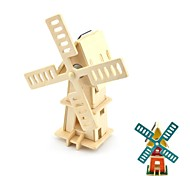 DIY Colored Drawing Solar Powered Windmill Toys