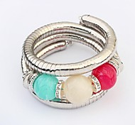 Women's Cute Big Beads Rhinestone Layers Wrist Chain Bracelets