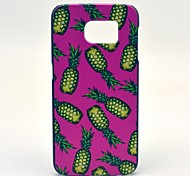 Pink Pineapple Pattern Hard Case Cover for Samsung Galaxy S6