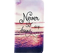 Pink Sea Pattern PU Leather Full Body Cases with Stand for Samsung Galaxy S6