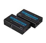 Extender HDMI su ethernet rj45 cavo LAN fino a 165ft kit 1080p / 3D 50m