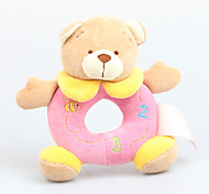 Fly By Fly- Baby's Pure Cotton Music Cute Bear Rattle Hand Stuffed Dolls