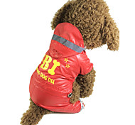 Rojo/Negro - A Prueba de Agua - Algodón - Impermeable - Perros -