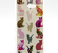 Colorful Cat Pattern Soft TPU Case for Sony Xperia M2