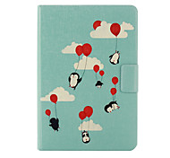 Penguin Pattern PU Leather Full Body Case with Stand  for iPad Mini 1/2/3