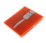836 usb 2.0 480Mbps cinco em um leitor de cartão de memória suporta tf / sd / ms / sd m2 e mini (cores sortidas)