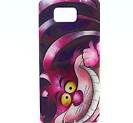 COCO FUN® Purple Cartoon Cat Pattern Soft TPU IMD Back Case Cover for Samsung Galaxy Alpha G850F G850