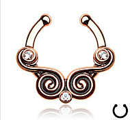 Fashion Stainless Steel  Crystal Nose Ring Body Jewelry Piercing