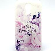 das Leben ist schön Blumenmuster ultradünnen weichen tpu Fall für Samsung-Galaxie i9190 s4 Mini