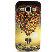 Elephant Balloon  Pattern TPU Soft Case for Samsung Galaxy J1