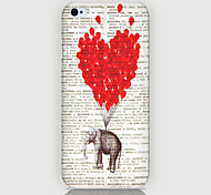 Love Elephant Pattern Back Case for iPhone5/5s