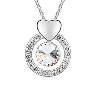 Longing for You Fashion Short Necklace Plated with 18K True Platinum Crystal Clear Crystallized Austrian Crystal Stones