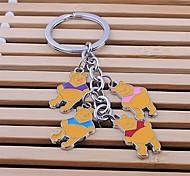 Zinc Alloy Cute Bear Shaped Key Chain