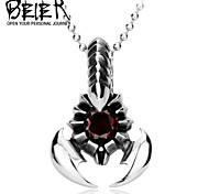 Men's Scorpion Pendant With Black/Red Stone Personality Exclusive Sale