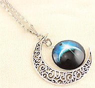 Alloy Daily/Casual Necklace Fashion Moon Star Time Stone Pendant Necklaces 1pc
