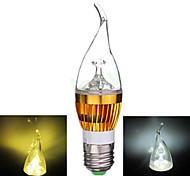 Lampandine a candela 3 COB Ding Yao E26/E27 9 W 250-300 LM Bianco caldo / Luce fredda 1 pezzo AC 85-265 V