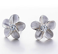 2016 Korean Unisex 925 Silver Sterling Silver Jewelry Earrings Alice Flower Stud Earrings 1Pair